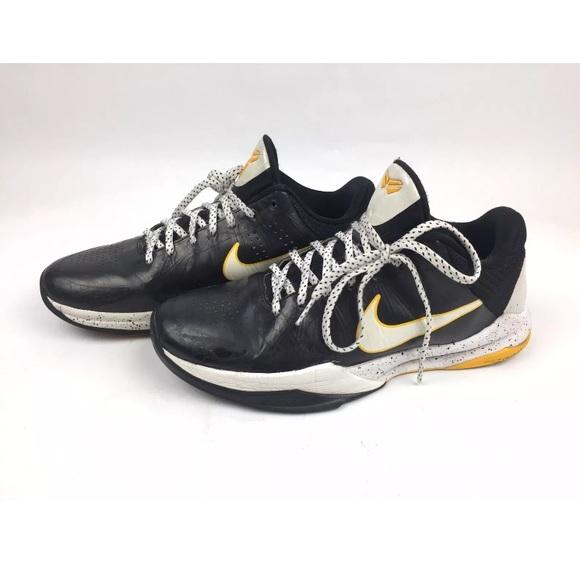 newest cc471 98c5c Nike Zoom Kobe V 5 Black Del Sol Lakers 386429-002